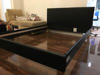 King Size Bed Frame, Faux leather, NEEDS SLATS