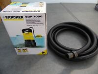 KARCHER SDP 7000 DIRTY WATER PUMP & 7 MTR DRAIN HOSE +FITTINGS. LITTLE USED IN SUPERB CONDITION.