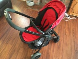 Red Graco Evo Pram
