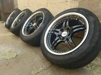 BMW DEEPDISH CHROME ALLOYS AND TYRES