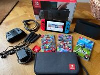Nintendo Switch with 3 games + Accessories