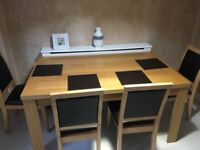Oak Dining Table & 4 Chairs £60
