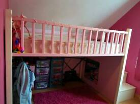 Bed (double) with stairs