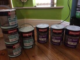 Satin wood and undercoat 100£