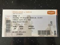 England Vs India Day 2, Trent Bridge Test Match Ticket