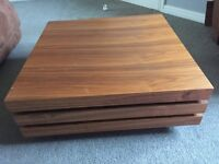 Dwell Rotate square coffee table - walnut