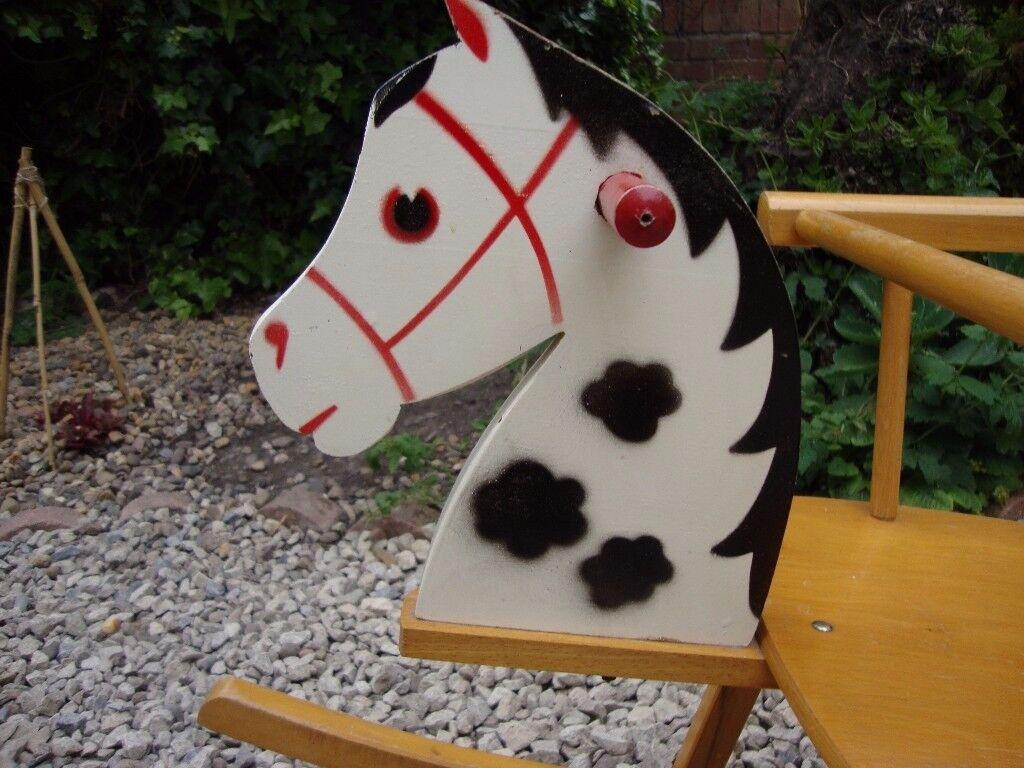 Lovely Vintage Wooden Rocking Horse.