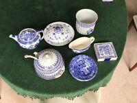 Blue and White China: Including 'Willow' Copeland Spode & Royal Copenhagen **originally £120**