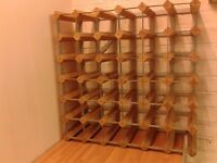 Commercial style 36-hole wine rack.