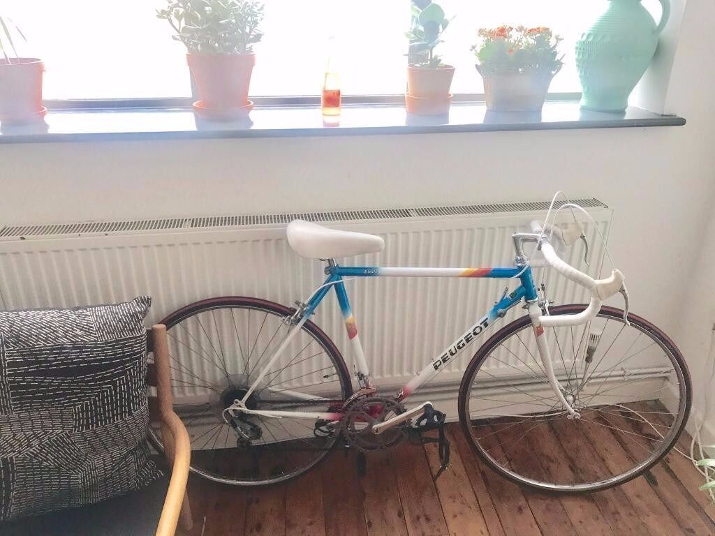 """Rare Peugeot Etoile vintage bikein Hackney, LondonGumtree - A rare Peugeot Etoile 21""""in great condition and serviced. Suitable for rider at 52"""" and over. The bike can also take mudguards and rear rack. 12 speed gears with all original components Upgraded with Italian vintage bar tape and Schwalbe tyres..."""