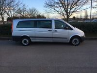MERCEDES-BENZ VITO 2.1 115CDI Traveliner Long Bus 5dr (9 Seats) (silver) 2014