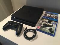 PS4 slim 500gb 2 brand new games