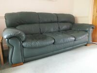 Leather suite, 2 seater sofa, 3 seater and single Chair.