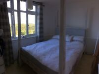 DESIGNER HAND MADE FOUR POSTER BED, SOLID TIMBER. INC MATTRESS. IMMACULATE