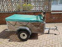 Line 1 Ferndown Trailer with Tailgate and Trailer Board - good condition