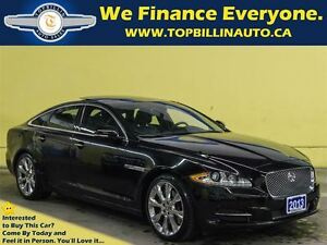 2013 Jaguar XJ AWD, PORTFOLIO, Ultimate Jet Black, Fully Loaded