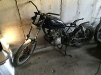 Suzuki GN 125 cafe racer project