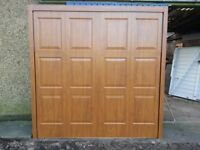 """Garage Door Frame included NEW STEEL WOOD EFFECT 7'0""""high X 6'10""""wide Tracked Gear"""