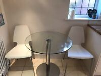 Round glass kitchen/dining table
