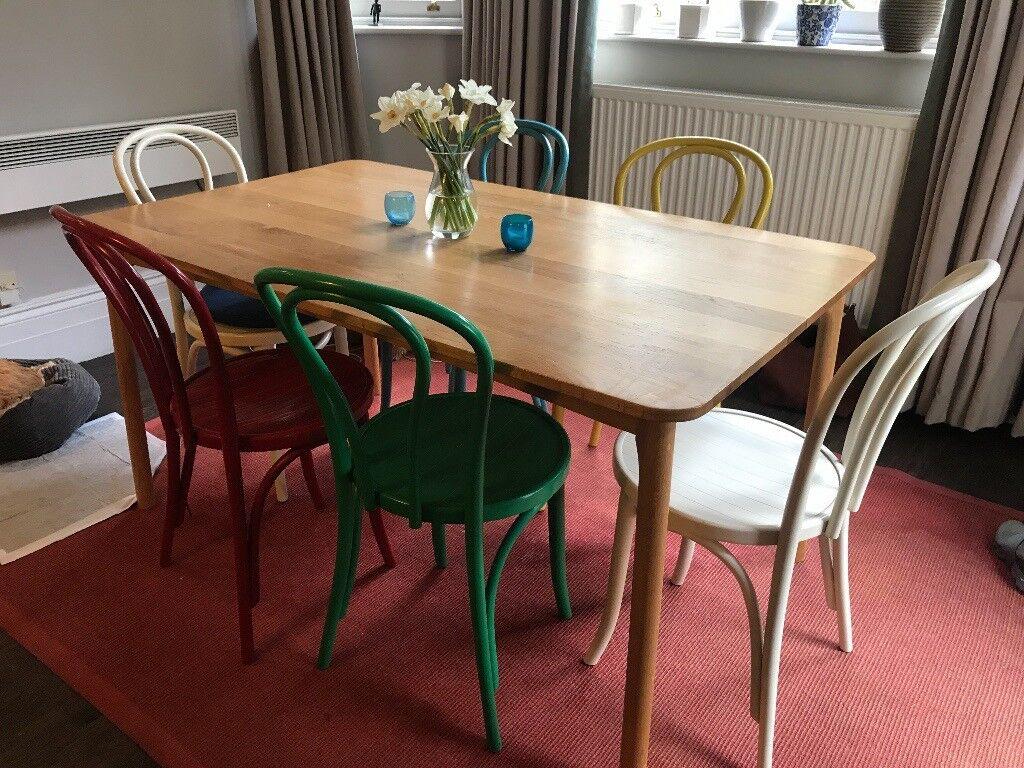 John Lewis Kitchen Tables 6 colored bistro chairs and kitchen table john lewis in st johns 6 colored bistro chairs and kitchen table john lewis workwithnaturefo