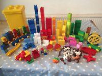 Large bundle of Duplo Lego with Duplo storage box