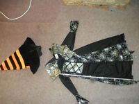 Witch dress (dress, hat, snake) for 6-8 years old
