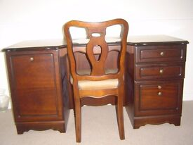 Rossmore Mahogany Desk and Chair