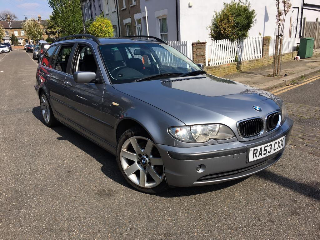 bmw e46 330i touring automatic 2003 94k miles silver grey estate full leather interior. Black Bedroom Furniture Sets. Home Design Ideas