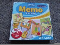 Memo Memory game for 2-4 year old children