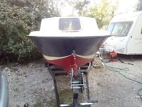 17 ft Cabin Cruiser Winter Project including Outboard, Trailer and Much More