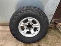Kumho MT R15 tyres x5