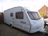 ACE Aristocrat 5/6 berth caravan with motor mover excellent condition no damp.