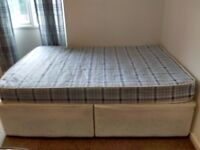 Used double divan and mattress