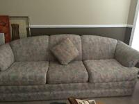 Couch and love seat combination