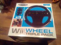 Wii wheels triple pack