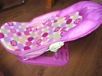 Summer Infant Deluxe Pink Bather Baby Bath Support Seat bathtub