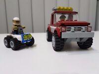 Lego 4x4 truck & police quad bike