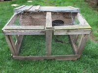 Chicken Rabbit Hutch Wooden Hand Made
