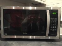 Kenwood K25MSS11 solo black and stainless 900 watt microwave 25 litre capacity. Excellent condition