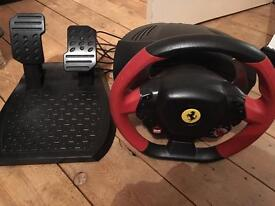Thrustmaster Ferrari 458 Spider steering wheel and pedals for XBOX one (used)