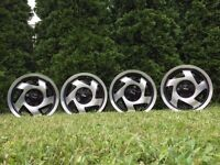 Aluline turbine deep dish alloy wheels, 4x100 Vw Polo Lupo Seat Arosa