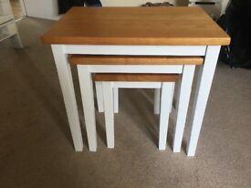 Lovely stack of 3 nesting tables