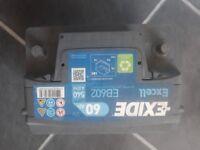 Exide EB602 car battery 12v 60ah fits most model cars.
