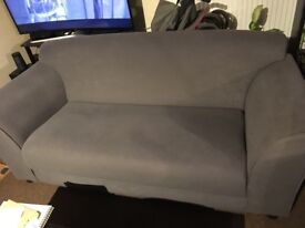 Grey two sitter sofa