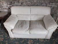 Cream Two seat sofa (settee) x 2 and one chair FREE TO COLLECTOR