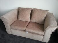 TWO SEATER SOFA IN BEIGE / CREAM BRAND NEW