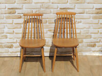 2 Chairs retro style solid (Delivery)