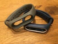 2 Xiaomi mi band 2 strap - Grey, and blues white