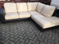 Leather corner Sofa-£200 delivered