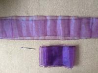 55 x purple organza sashes – chair decorations